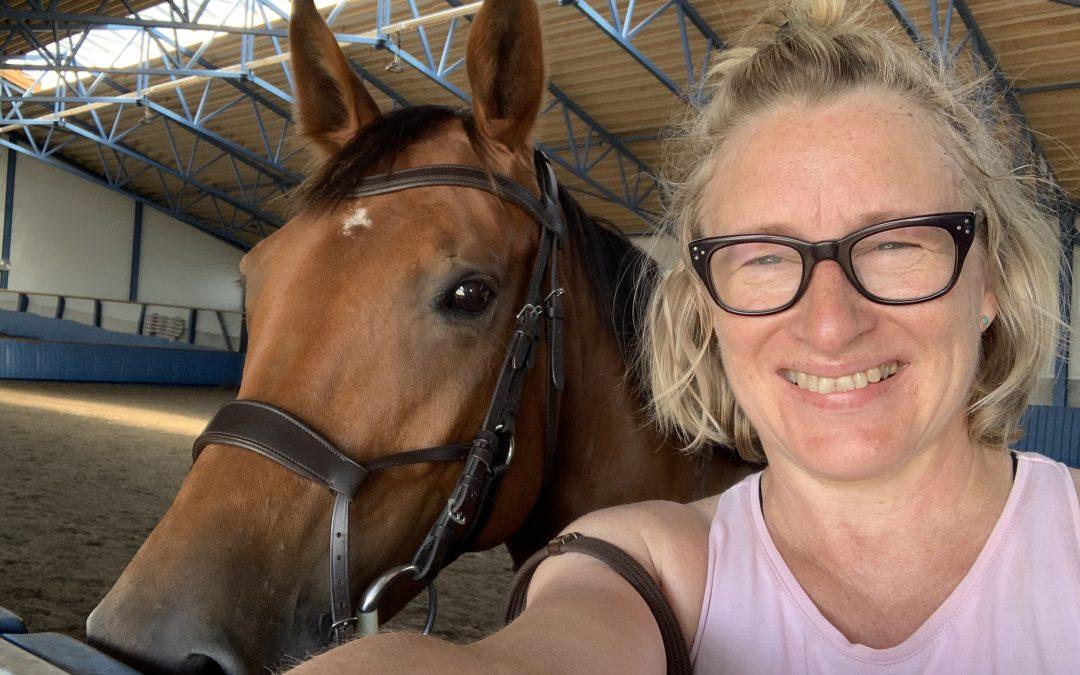 Kavaletteja, patteja ja upea hevonen